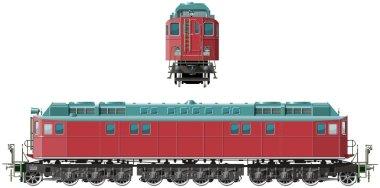 Retro train locomotive