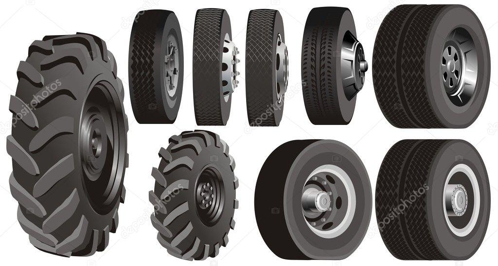 Truck wheels set