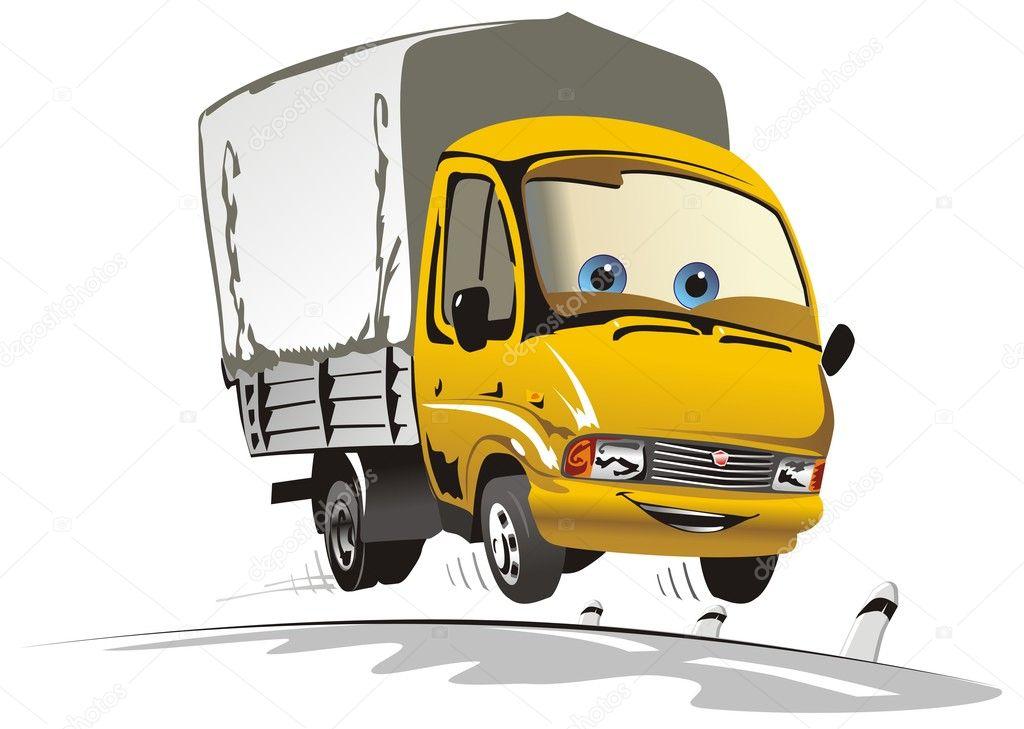 Новогодние открытки, прикольный рисунок грузовика