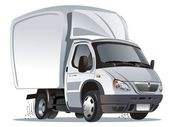Vektor rajzfilm szállítás / teherautó