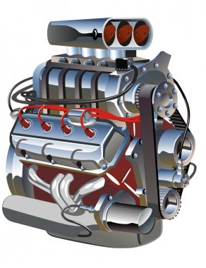 Vector cartoon turbo engine. Available AI-10 separated by groups vector format stock vector