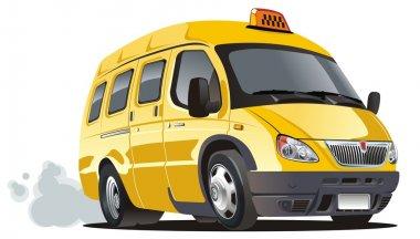 Vector cartoon taxi bus