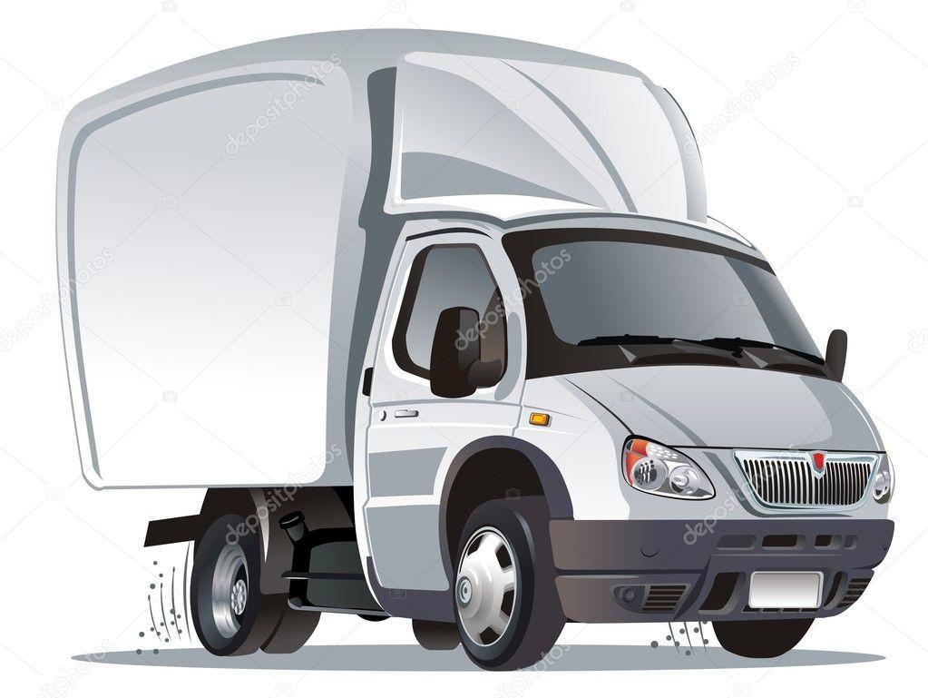 vector cartoon camion de livraison fret image vectorielle mechanik 2406499. Black Bedroom Furniture Sets. Home Design Ideas