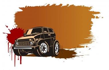 Vector cartoon off-road vehicle