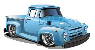 Vector cartoon truck hotrod
