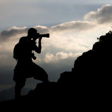 Photographer, silhouette