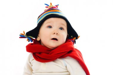 Baby wearing winter clothes