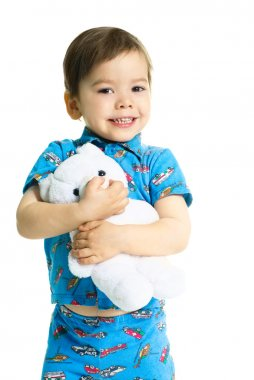Happy child with a toy