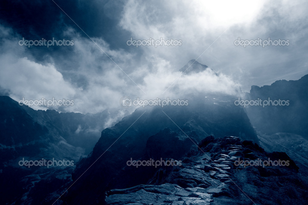 Фотообои Stormy mountains landscape