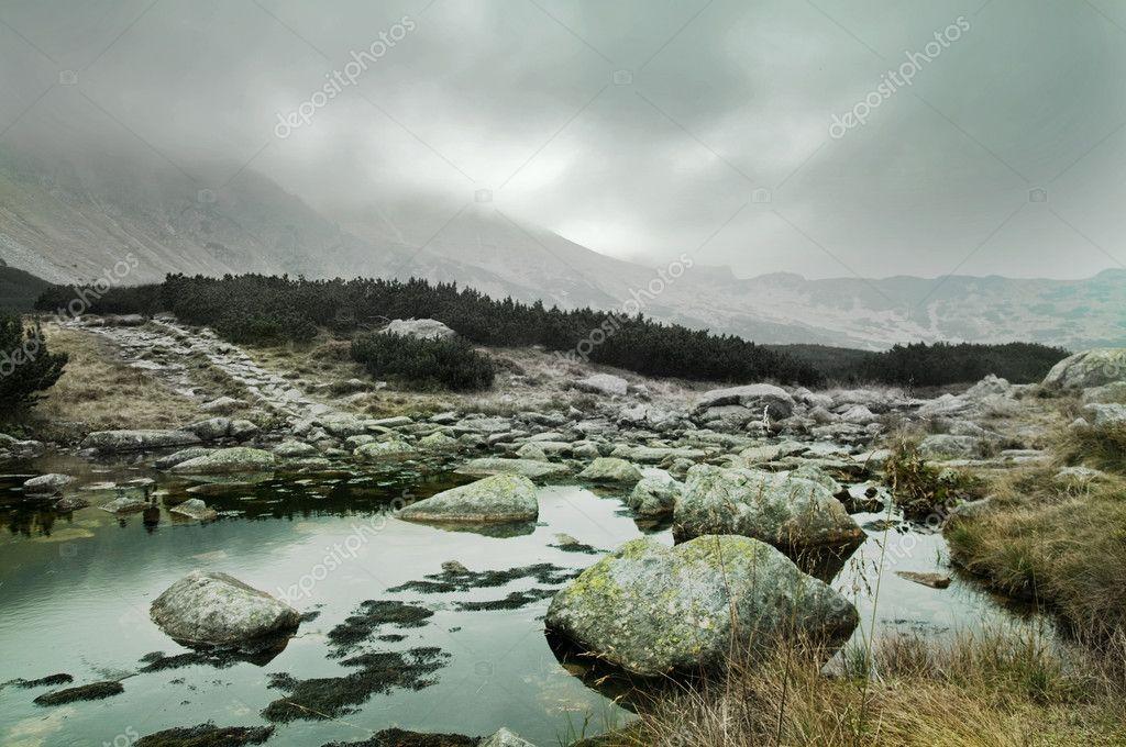 Фотообои Скалистые горы пейзаж