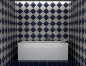 현대적인 욕실 벽에 흰색 타일 — 스톡 사진 © tiler84 #4009423