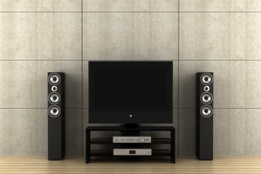 Modern tv with speakers