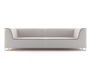 White sofa isolated on white background
