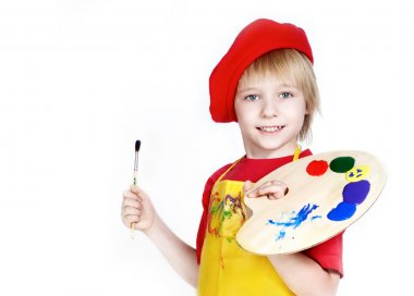 Little boy with brush