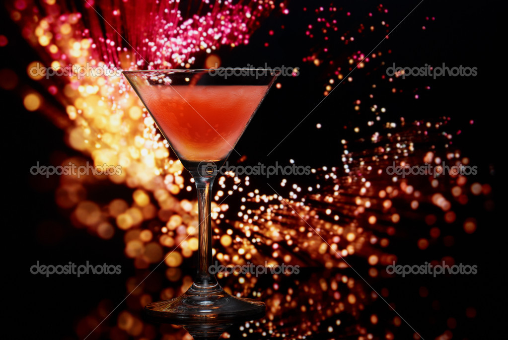 Cocktail on an abstract background