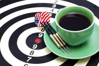 Darts and coffee