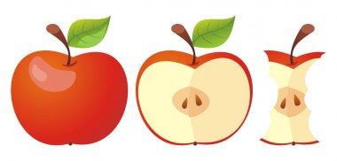 Set of three apple icons.