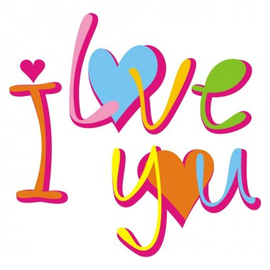 I love you. Vector illustration. clip art vector