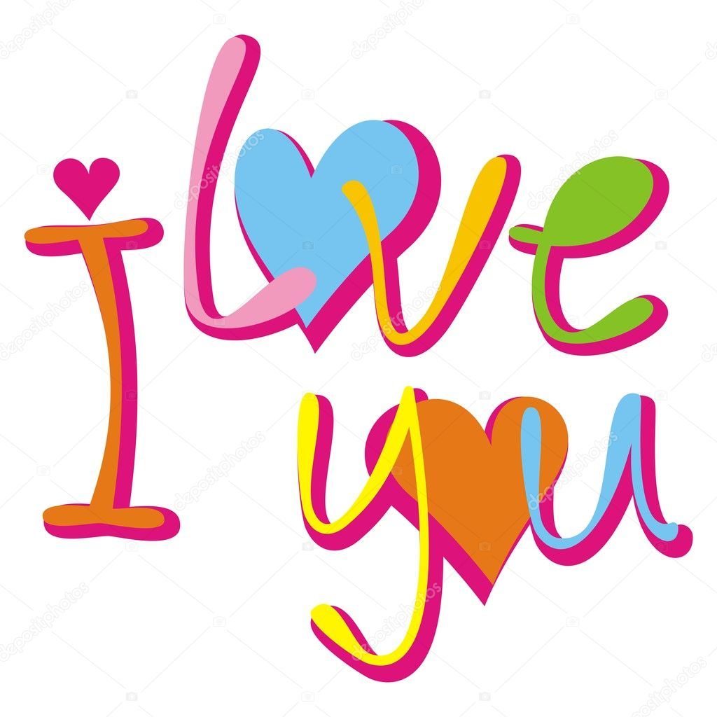 I love you. Vector illustration. clipart vector