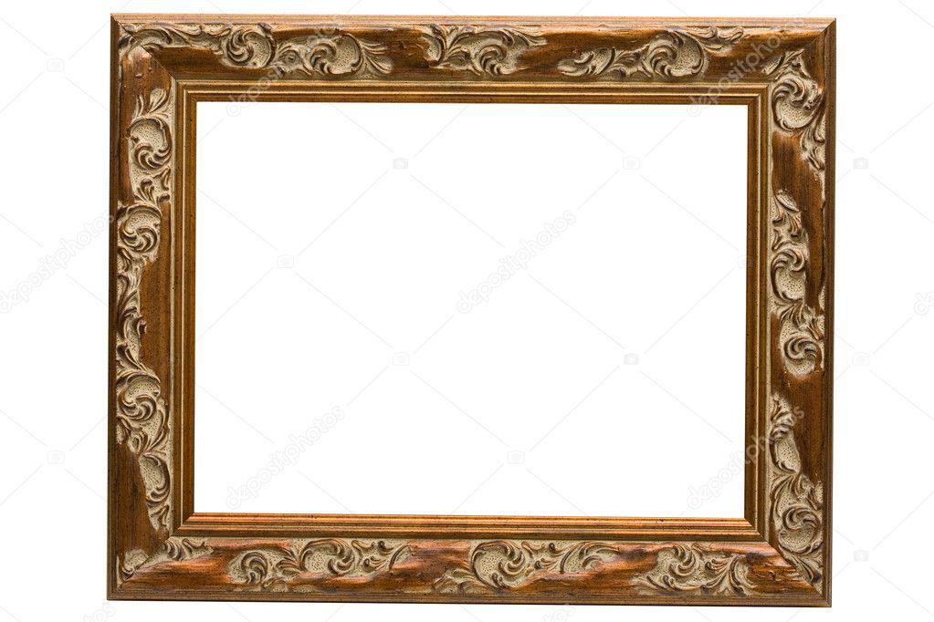 Antique Wooden Frame Stock Photo AlexAvich 2197711