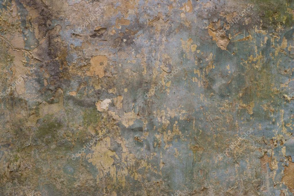 Mur Avec Peinture Qui S écaille Fissuré Photographie