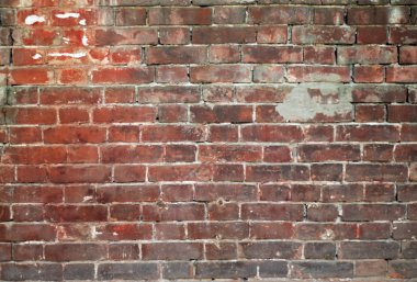 Wall from old bricks