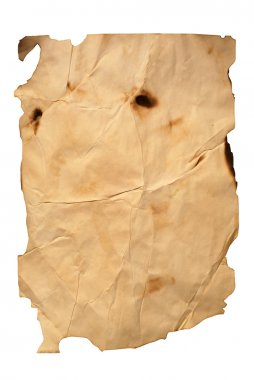 Old natural burnt beige paper with fracture stock vector