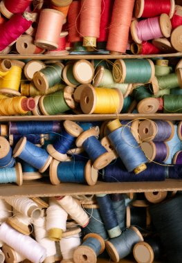 Colorful sewing