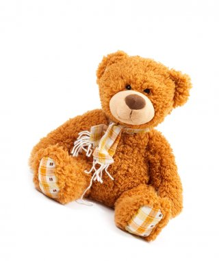 Classic teddybear isolated on white stock vector