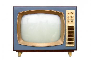 Television apparatus from 1950 stock vector
