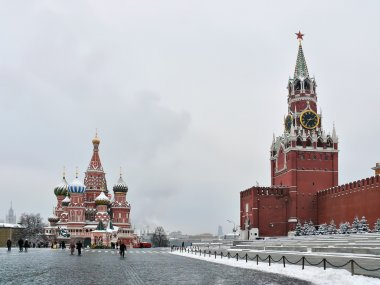 The Kremlin, Spasskaya a tower, a cathed