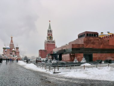 Red Square, the mausoleum