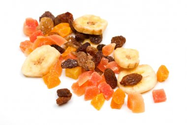 Mix of dried fruit
