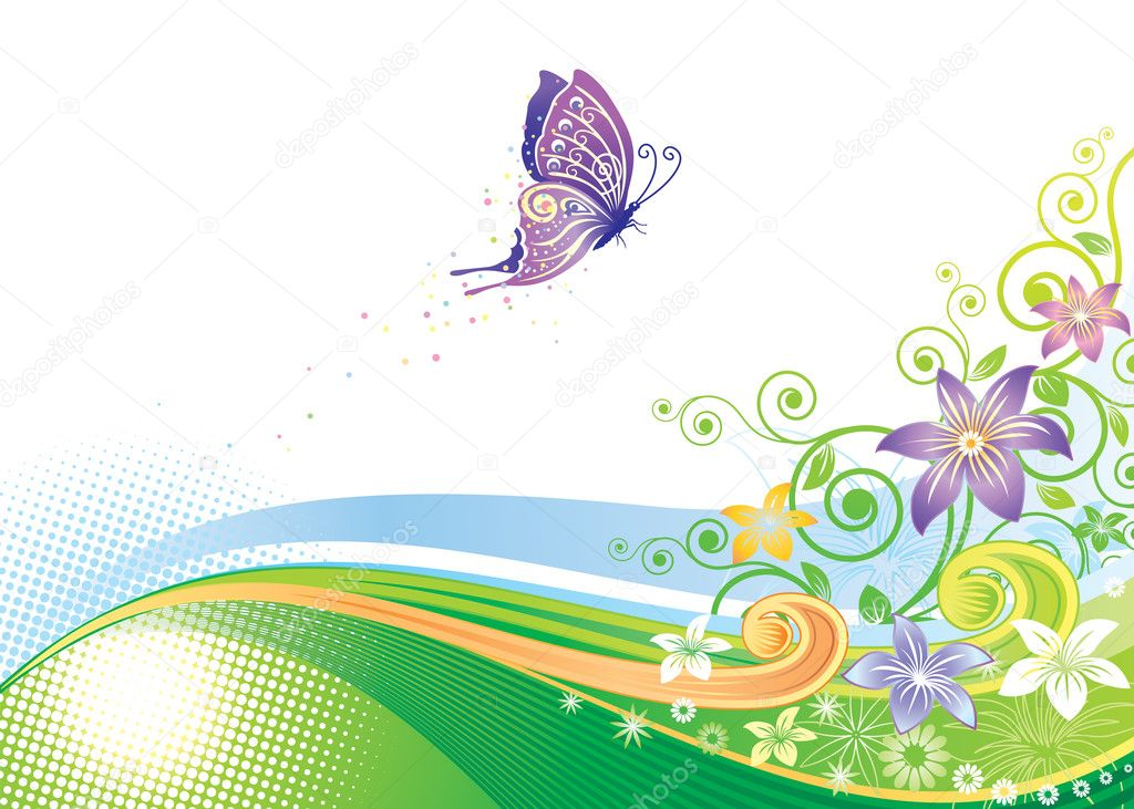Butterfly Floral Design