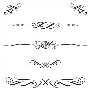 Vector file of horizontal elements decoration design. stock vector