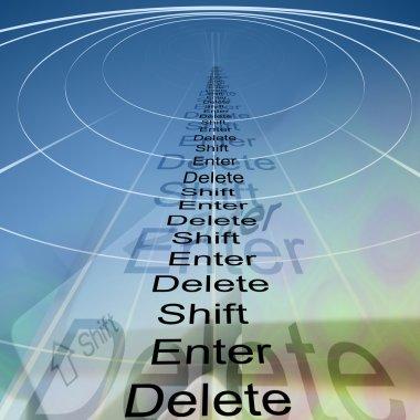 Enter, shift and delete