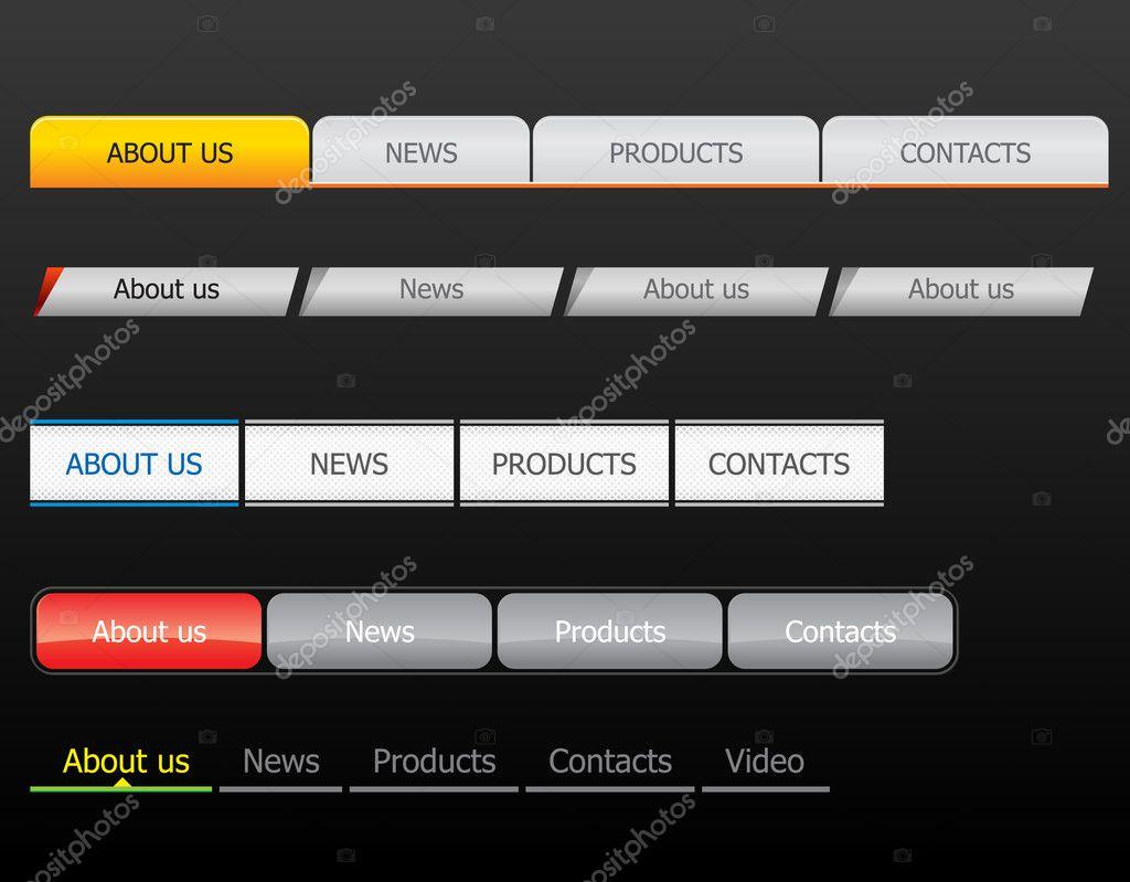 Navigation bar templates — Stock Vector © vtorous #2625752