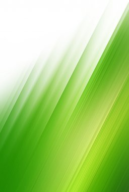 Abstract green wind