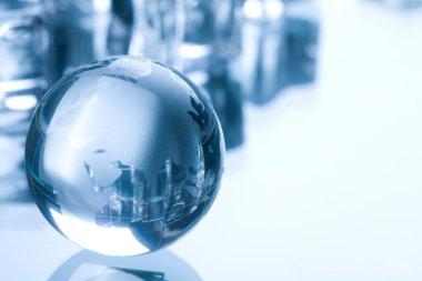 Globe made of glass