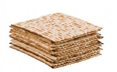 Close up of pile of matzo (matzah)
