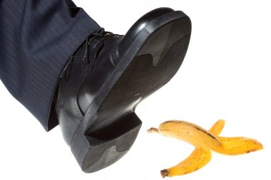Step on a banana peel