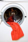Handtuch und Waschmaschine