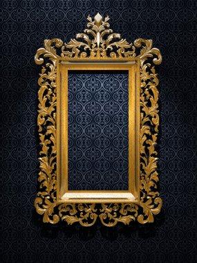 Retro Revival Old Gold Frame stock vector