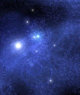 Dark starry sky