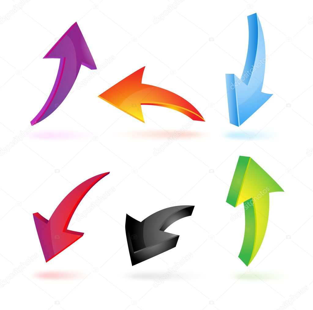 Colorful 3d arrows
