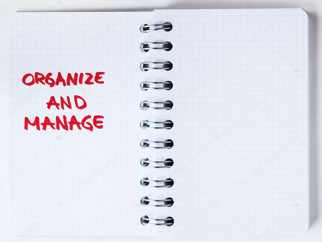 Organize your life - notebook note — Stock Photo © tamtam ...
