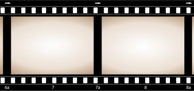 Old retro grunge camera film