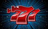glückliche sieben 777 Spielautomaten-Schrift