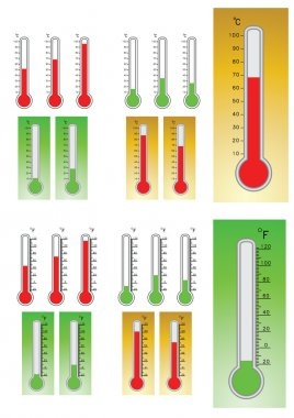 Thermometers illustrated clip art vector