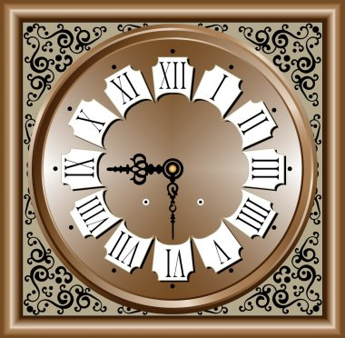 Vector illustration of Antique clock